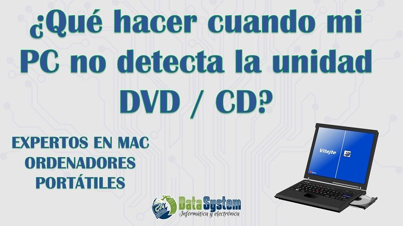 pc no detecta cd dvd