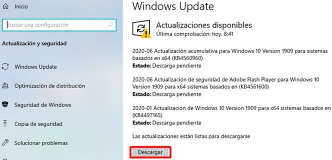 como actualizar windows