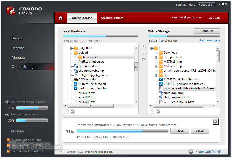 comodo backup screenshot 01