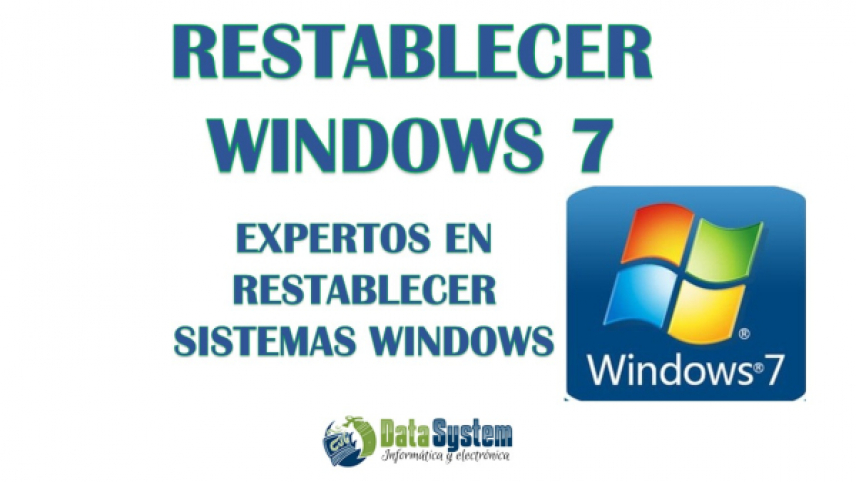 RESTABLECER WINDOWS 7